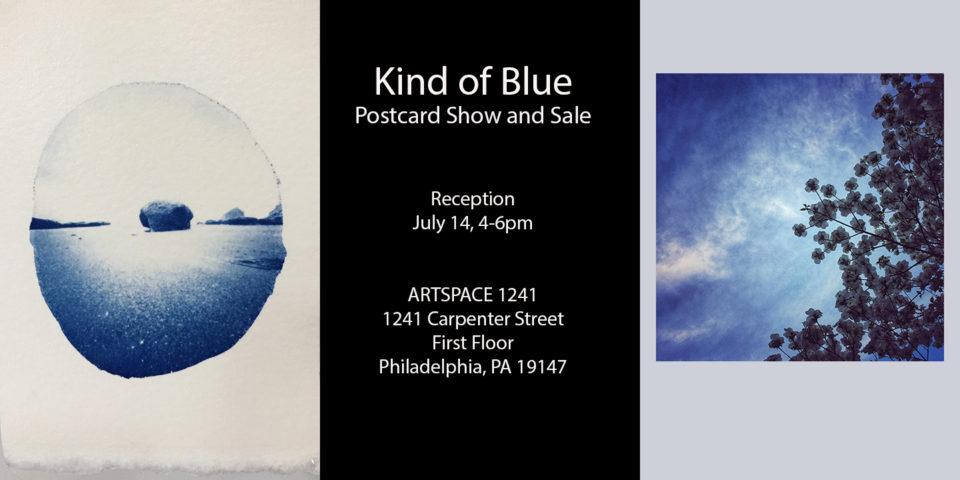 Kind of Blue, Laurie Beck Peterson 1241 Carpenter, ARTSPACE 1241, postcard show